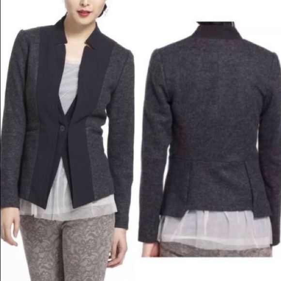 Anthropologie Jackets & Blazers - Anthropologie Elevenses Waved Placket Blazer